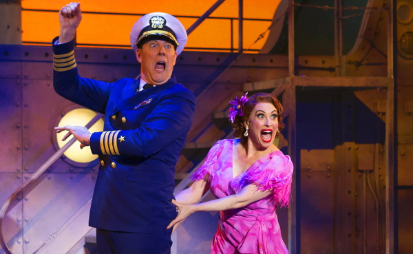 DAMES AT SEA John Bolton and Lesli Margherita in photo by Jeremy Daniel, 2015