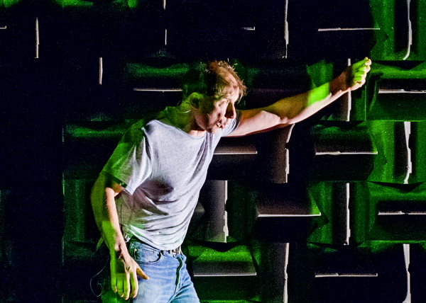 Simon McBurney in The Encounter by Complicite @ Barbican Theatre. Directed by Simon McBurney. (Opening-17-02-16) ©Tristram Kenton 02/16 (3 Raveley Street, LONDON NW5 2HX TEL 0207 267 5550 Mob 07973 617 355)email: tristram@tristramkenton.com